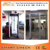 Puerta cilíndrica del detector de metales de la arcada de la puerta del detector de metales de 6 zonas
