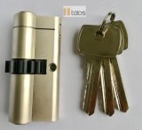 Standard 6 Pins Euro Double Cylinder Lock Satin Nickel