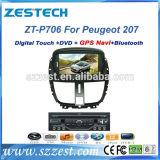 Reprodutor de DVD do carro da navegação do GPS do Wince para Peugeot 207 (ZT-P706)