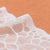 広州の白い伸縮織物の卸売の伸縮性があるレースのトリム
