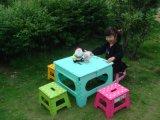 Großhandelsgarten-Plastikfaltende Strand-Möbel mit Cer-Schreibtisch u. Stuhl