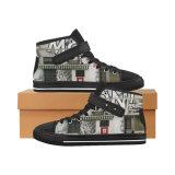Dropshippingの工場標準的なHicut 009のキャンバスのスニーカーの昇華習慣は靴を作る