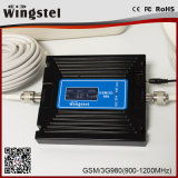 Banda dual 900 / 2100MHz 2g 3G 4G repetidor de señal de teléfono celular con antena