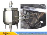 500 L de aço inoxidável fundo cónico com depósito de mistura com raspador batedeira 36rpm