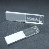 Impermeável USB Pendrive Crystal USB Flash Drive com luz LED