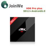 Fijar el rectángulo superior H96 FAVORABLE más el rectángulo del androide 6.0 TV de Amlogic S912 Google