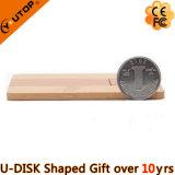 Schwenker/drehender hölzerner Karte USB Pendrive für Geschenk (YT-3132)