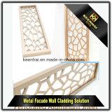 Panneaux en aluminium aérés décoratifs de coupure de laser pour le mur extérieur et intérieur
