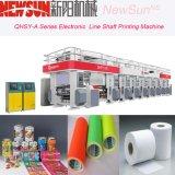 Linha eletrônica máquina da série de Qhsy-a de impressão do Gravure da película plástica do eixo
