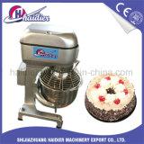 Bolo do aço inoxidável da padaria que mistura o misturador de massa de pão de Euipment com os 3 batedores