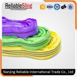 Código de color de la tela sintética Rigging industrial Correas de elevación