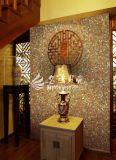 Azulejo de mosaico amarillo del shell de Paua del shell del olmo