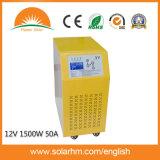 (X9-T15212-50-1) 12V1500W 50Aコントローラが付いている純粋な正弦波インバーター