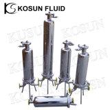 vapor sanitário do ar do saco de cartucho da membrana de 304 316 Ss do aço inoxidável fabricante frente e verso Lenticular da carcaça de filtro do único multi