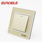 interruptor redondo da parede da cor 1gang do ouro de 10A/250V 86*86mm