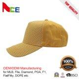 Chapéus de basebol feitos sob encomenda por atacado para a venda/boné de beisebol amarelo/boné de beisebol da criança