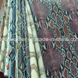 Surface de serpent recto-verso (QDL PU Chaussures en cuir-SP033)