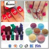 Colorant de vernis à ongles de perle de mica, poudres de mica multicolores pour le vernis à ongles