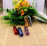 Rolle des netter Duftstoff-bernsteinfarbige Glas-5ml auf Flasche mit Metalrollen-Kugel und goldener Schutzkappe