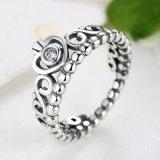 형식 크라운 CZ 다이아몬드 반지 925 순은 반지