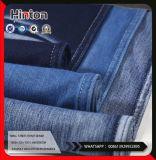Algodão sarjado elastano poliéster tecido Jeans Knittind 300gsm