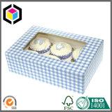 Caixa de empacotamento de papel do queque feito sob encomenda do indicador do espaço livre da cor