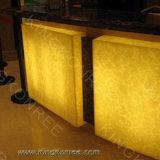 Surface solide des feuilles de pierre acrylique translucide
