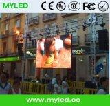 Visualizzazione di LED locativa di alluminio di fusione sotto pressione completa dello schermo P5 di colore 640mmx640mm esterna