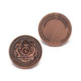 Commerce de gros Antique Silver Award Souvenir Coin Shopping Keyholder en alliage de zinc