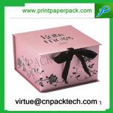 Ha annunciato il contenitore di regalo pieghevole quadrato rigido di memoria del guanto di stampa del cartone