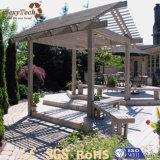 Pergola en bois personnalisé extérieur conçu de WPC pour le jardin