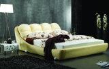 Neues moderner Entwurfs-echtes Leder-Bett (HC170) für Schlafzimmer