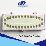 Ortodoncia Dental Metal pasiva auto ligar la escuadra
