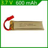 3.7V Rode Stop 721860 van Jst van de Batterij van het Lithium van de As 3.7V 600mAh van het UFO van de Vliegtuigen van de 600mAhAfstandsbediening Verre
