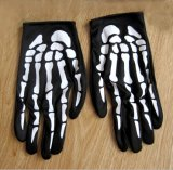 Guanti del poliestere stampati osso di Halloween (GL001)