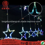 Colorful Christmas LED Star Lights Cortina Light String para Ramadan Outdoor Decoration