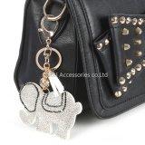 형식 Jewellry에 의하여 채워지는 베개 코끼리 부대 부속 열쇠 고리 장신구 선물