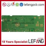 PWB da placa de circuito com componentes eletrônicos