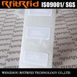 etiquetas engomadas pasivas imprimibles de 13.56MHz Ntag213/215 NFC