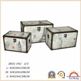 가정 가구 상징 패턴을%s 가진 3 나무로 되는 트렁크의 나무로 되는 저장 선물 상자 세트