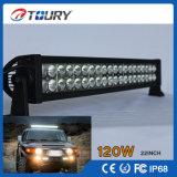Barra de luz LED 120W sola fila 4X4 Sistema de iluminación de la lámpara curvada