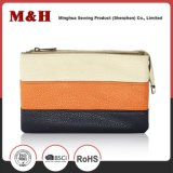 Three-Color 수평한 줄무늬 휴대용 쇼핑 백 가죽 지갑