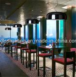 Luz de teto moderna de alumínio e restaurante