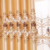 ポリエステル排気切替器の水溶性の刺繍の停電の窓カーテン(28W0045)