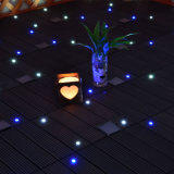 庭の経路のための屋外のGluelessの防水連結のプラスチック製の取り外し可能な合成物LED WPCのデッキの床タイル