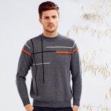 Nouveau design des hommes 100%Cashmere Pull Pull col rond, de vêtements en bonneterie