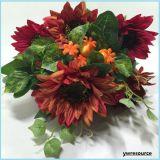 Flores artificiales de seda falsas girasoles falsos para la decoración casera de malas hierbas