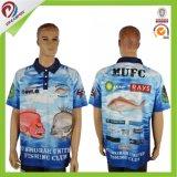 Custom Dry Fit sublimé de pêche de gros T-shirt avec conception libre