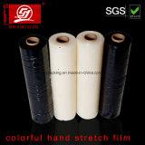 Película colorida do envoltório da película de estiramento da mão da resistência 5000m LLDPE da penetração