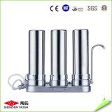 Dreistufiger Tisch-Oberseite-Wasser-Reinigungsapparat-Gegenoberseite-Filter